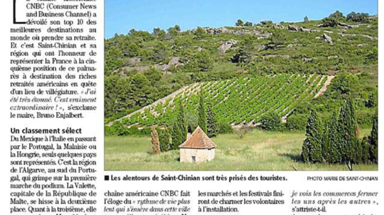 Saint Chinian dans le top 10