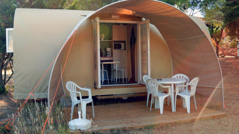 Intérieur Coco Sweet. Glamping au Camping Les Terrasses